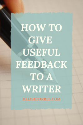 5 tips to keep in mind when giving feedback to a writer